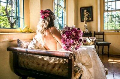 Casamento na fazenda de Carol & André: rústico, colorido e personalizado ao máximo!