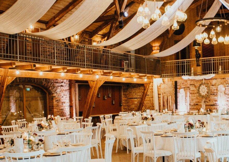 Winterzauber für Ihre Hochzeit in der Hof Frien Festscheune