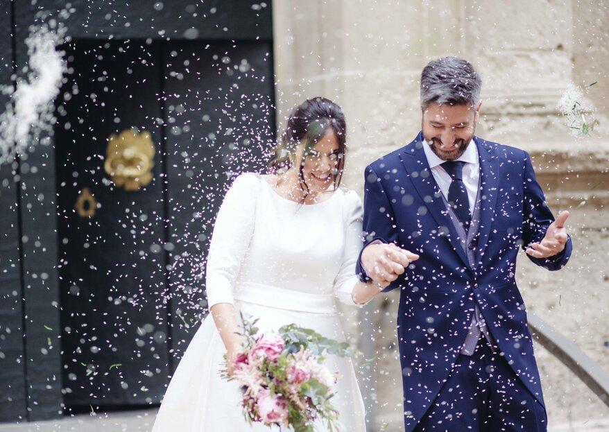 Amor por los animales: la preciosa boda de Marisa y Miguel