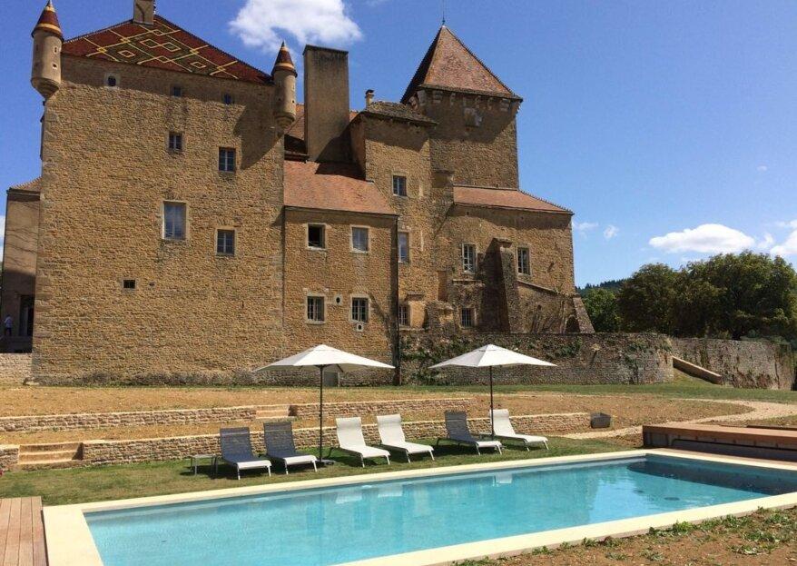 Château de Pierreclos : organiser son mariage au cœur du vignoble bourguignon