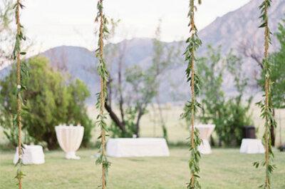 Green wedding: un joli mariage dans un joli jardin