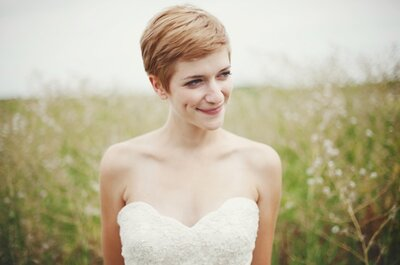 Corte de pelo pixie para novias: una tendencia chic y atrevida