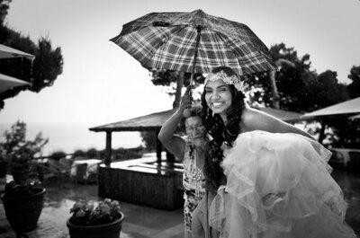 ¿Qué hago con las fotos si llueve el día de la boda?