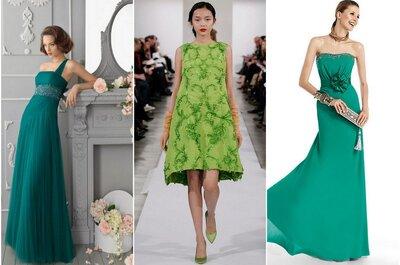 ¿Estás invitada a una boda en 2014? Tips de moda para combinar un vestido verde
