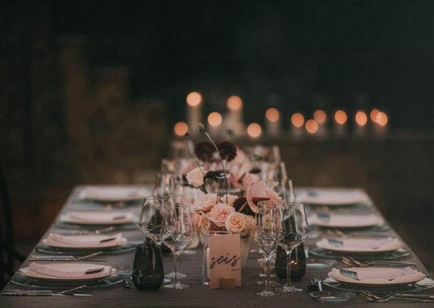 Cómo elegir los indicadores de mesa perfectos para tu matrimonio en 5 pasos