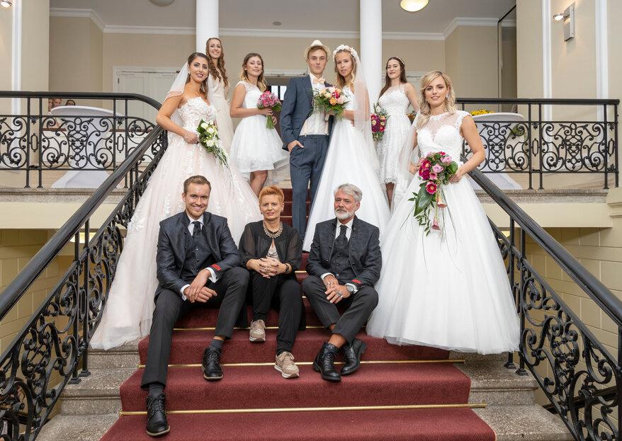 Eine Auswahl, die rundum begeistert: Finden Sie Ihr traumhaftes Brautkleid im Haus der Braut!