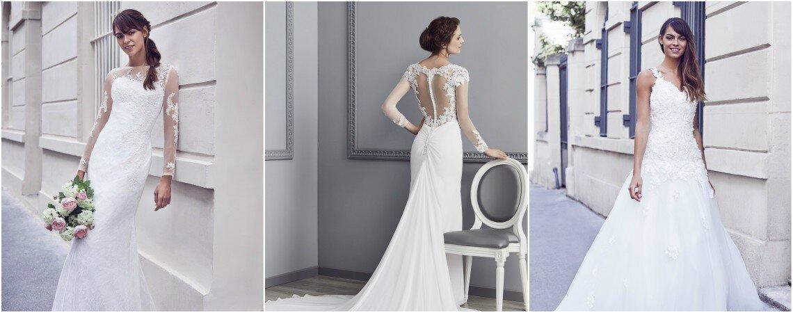 Tendances et pour tous les goûts, découvrez les nouvelles collections 2018 de robes de mariée dans les boutiques Priam