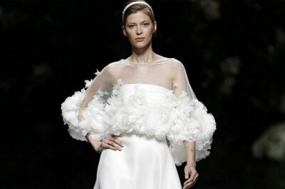 Tendencias en vestidos de novia 2013: capas y encajes