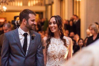 Casamento rústico e urbano de Tamara & Augusto: noiva deslumbrante e local charmosíssimo!