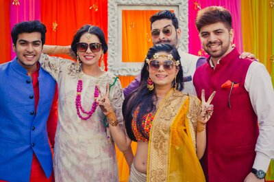 How to look pretty in yellow attire on your Sangeet ceremony