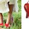 Sapato coração, da Melissa. Fotos: esquerda Bridal tweets e direita melissa