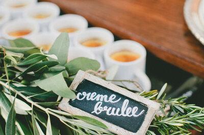 Postres individuales para tu banquete de bodas: Olvídate del pastel y conquista el paladar de todos