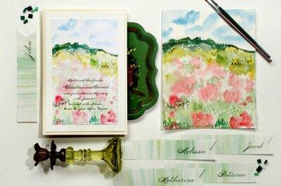 In punta di pennello. Matrimonio in toni acquerellati