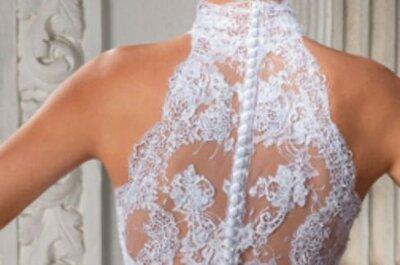 Vestidos de noiva com gola alta 2017: deixe tudo por conta da imaginação