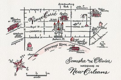 Incluye mapas en las invitaciones de tu boda