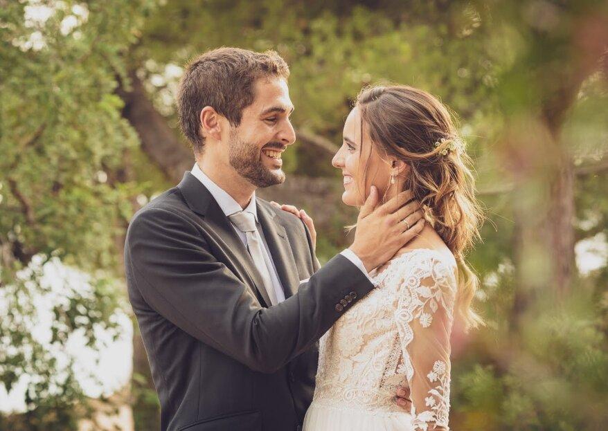 Íntima y entrañable: la boda de Mariola y David