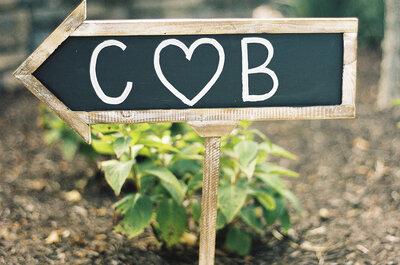 Las formas más divertidas de integrar los letreros en la decoración de boda