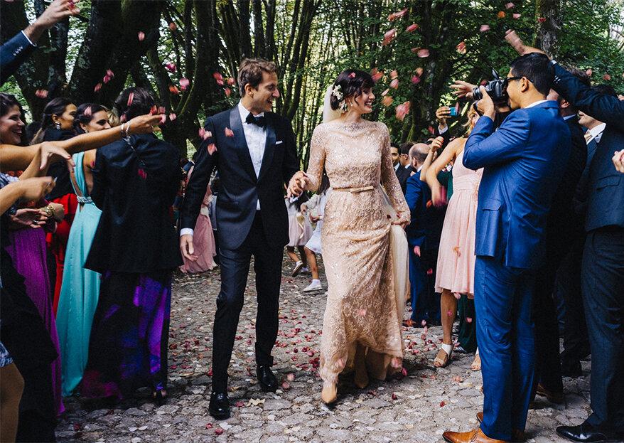 Vestidos de noiva cor champanhe: quando o branco não é opção!