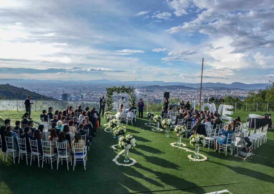 Un lugar ideal para una boda en los cerros orientales: MONT CELESTE Bogotá