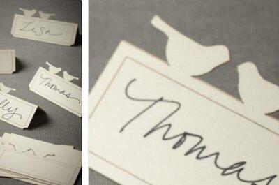 Ideas sencillas vintage para marcadores de mesa