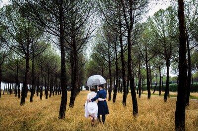 Novia mojada, novia afortunada: el gran día de Silvia y José Ramón