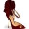 Ultrafemminili i sandali in velluto di Moretti. Foto via Moretti official website