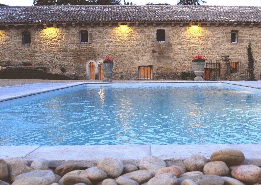Abbaye Du Grand Gigognan : un domaine luxuriant où vous marier dans le sud