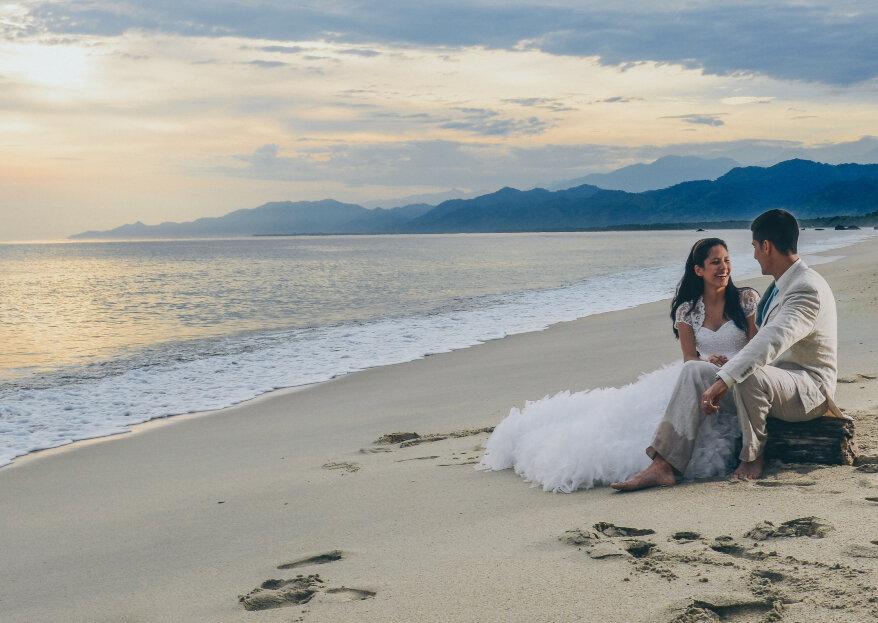 Una boda íntima en Playa Los Ángeles, un rincón de paz en Santa Marta