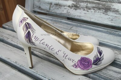 Einzigartig und wunderschön – bemalte Brautschuhe