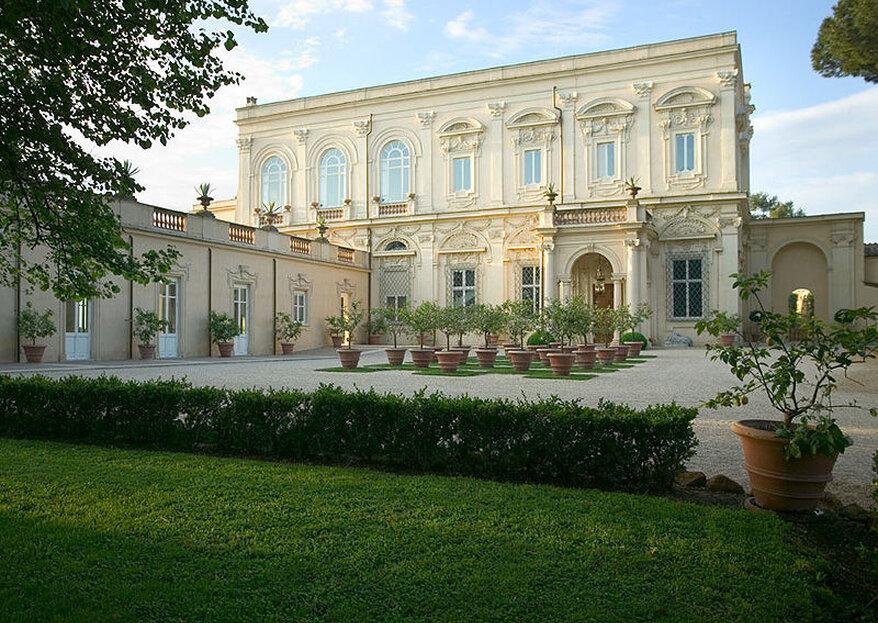 Villa Aurelia, a Cradle of Art, History and Tradition as your Wedding Venue