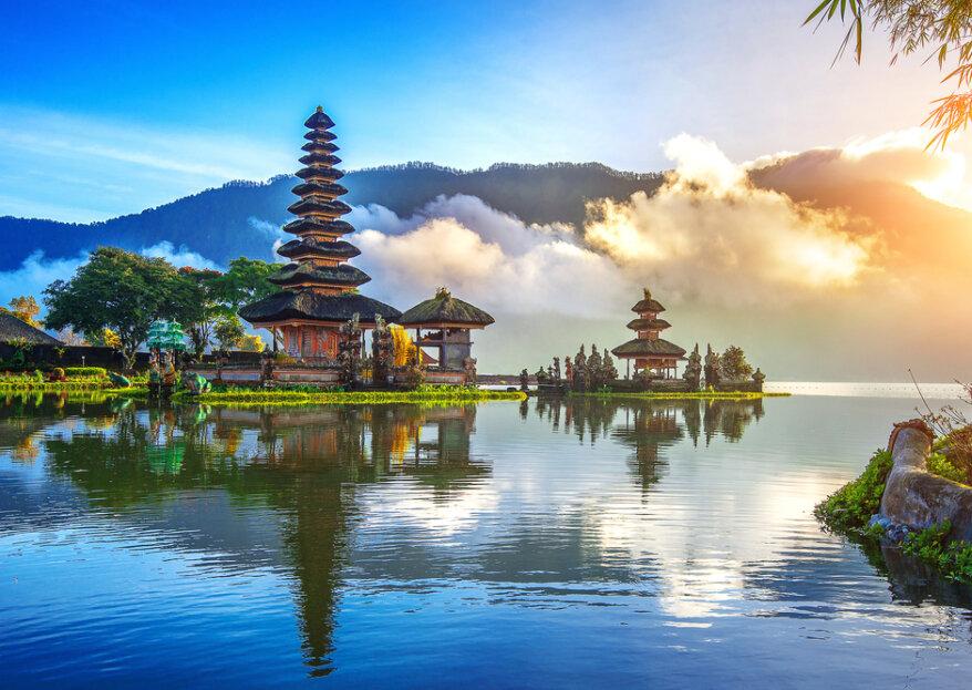 Lua de mel na Indonésia: uma caminhada pelo desconhecido