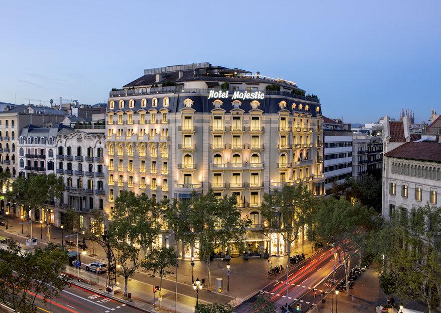 Majestic Hotel & Spa: prestigio, exclusividad y savoir faire para una boda de lujo en Barcelona