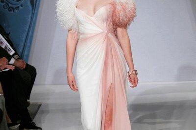 Vestidos de novia 2013 en color rosa pastel