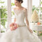 Sweetheart neckline with off the shoulder sleeves