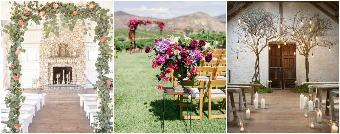 Decoração de cerimônia de casamento: ideias lindas para 2019!