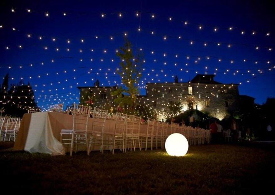 Chiudi gli occhi ed immagina il tuo matrimonio in grande stile al Castello di Montignano