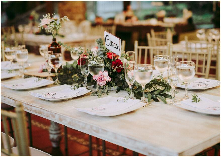 ¿Cómo marcar las mesas en tu boda? Te lo contamos en 5 pasos