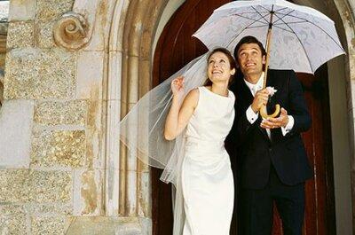 Por qué no preocuparte si llueve en tu boda