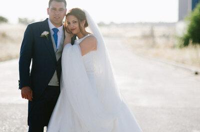 Una amistad de muchos años convertida en una verdadera historia de amor: la boda de Sergio y Alba