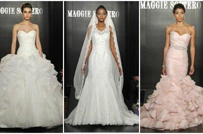 Romantica,mai banale,sempre alla moda. E' la sposa di Maggie Sottero per il 2013. Foto: www.maggiesottero.com