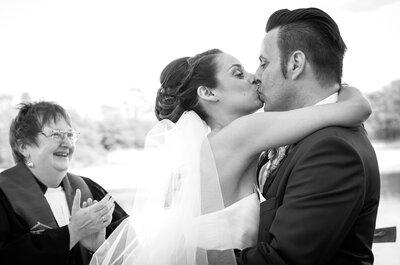 Die schönsten Hochzeitsküsse von echten Brautpaaren aus dem Jahr 2014!