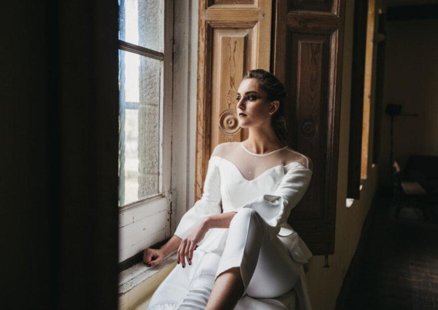 El vestido pantalón de la temporada: el look ideal para novias modernas