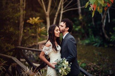 Casamento boho de Caroline  & Thiago: no campo, com detalhes vintage lindos!