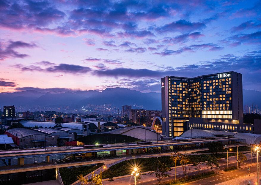 El exquisito lujo para bodas del Hotel Hilton Bogotá Corferias