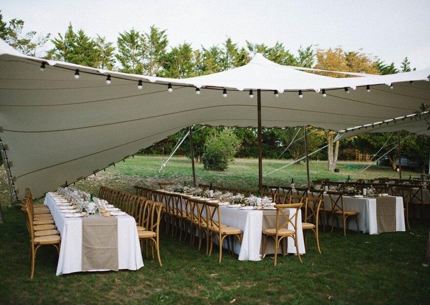 Tente, mobilier, vaisselle, éclairage : louez votre matériel de réception chez Provence Réception