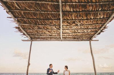 Real Wedding en Tulum: Una boda perfecta a la orilla del mar con los más hermosos detalles... ¡Wow!