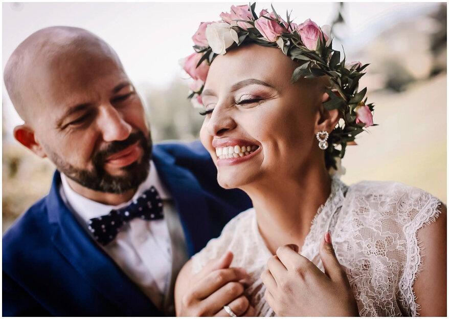 Marcela y Alex: un amor imbatible y una boda con sentido solidario