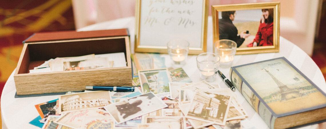 Gästebuch bei der Hochzeit.