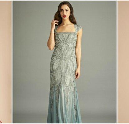 63e943056 Vestidos de fiesta vintage al estilo años 20. ¡Diseños originales que te  cautivarán!