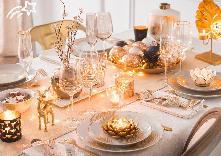 Decoración navideña para tu hogar: el cobre ilumina las fiestas